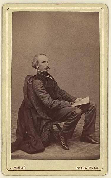 Malíř Josef Mánes na fotografii Jana Mulače