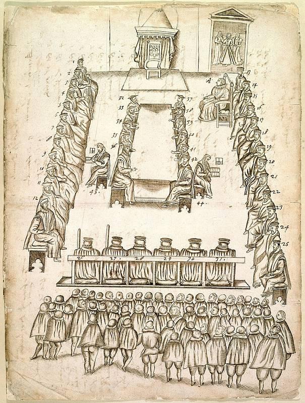 Soudní proces s Marii Stuartovnou kvůli obvinění z velezrady, se odehrával 14. a 15. října 1586.