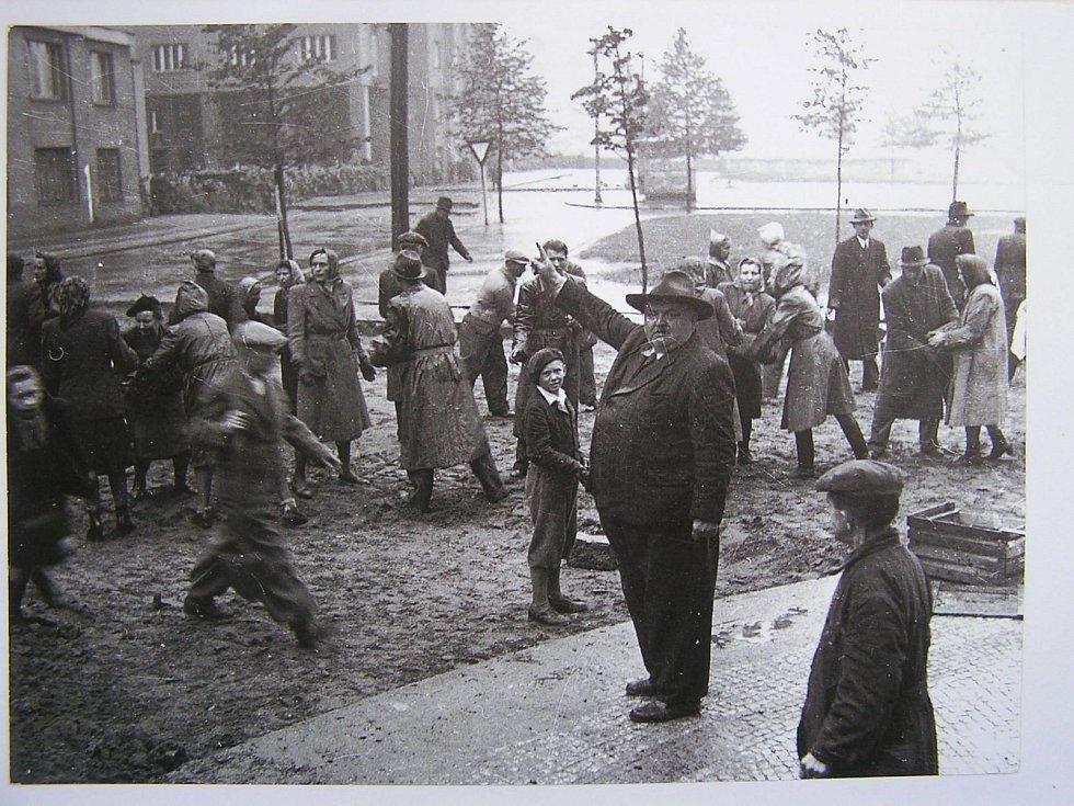Pražské povstání, barikáda na rohu Terronské ulice