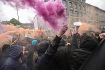 V Berlíně naštěstí k vážnému střetu nedošlo