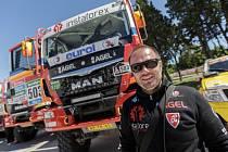 Aleš Loprais s kamionem MAN.