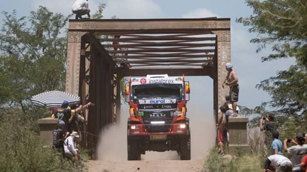 Aleš Loprais na Rallye Dakar 2015.