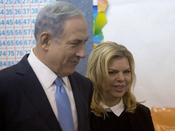 Benjamin Netanjahu s manželkou.