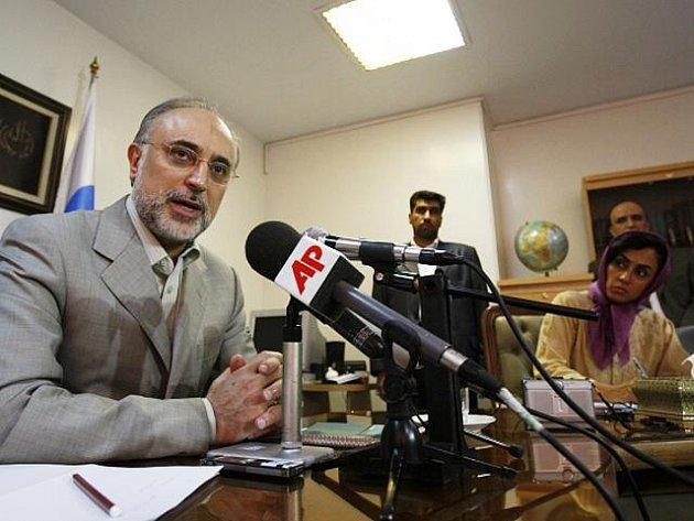 Íránský viceprezident pro jadernou energetiku Alí Akbar Sálehí.