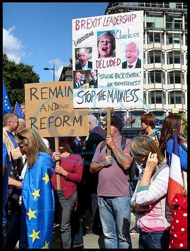 Londýn demonstroval proti brexitu.