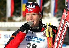UMÍ TO TAM. Michal Šlesingr získal na MS 2007 v Anterselvě dvě medaile.