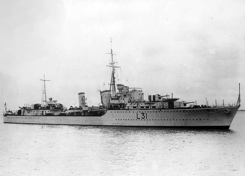 Loď Mohawk v době, kdy byla ještě ve zdravé kondici