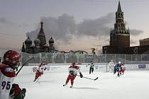 Utkání hvězd ruské Kontinentální ligy se hrálo pod širým nebem v blízkosti moskevského Kremlu.