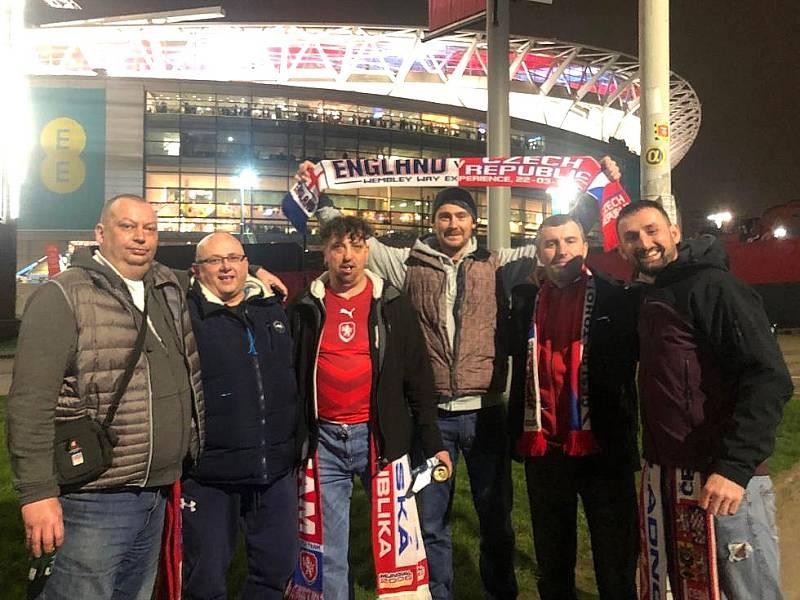 Výprava Kladeňáků ve slavném Wembley