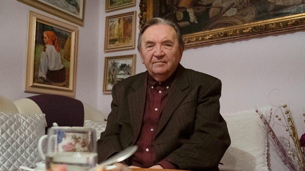 Levko Dohovič při natáčení pro Paměť národa.