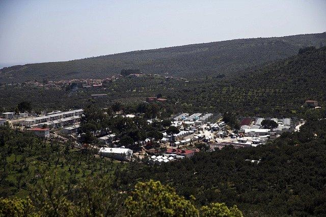 Tábor Moria v Řecku.