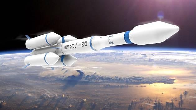Umělecká představa rakety OS-X