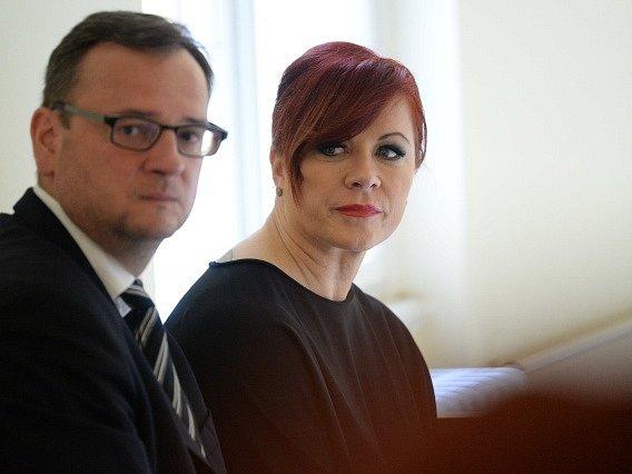 Petr Nečas a Jana Nagyová (dnes Nečasová).