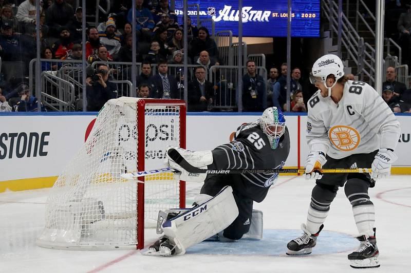 David Pastrňák během Utkání hvězd NHL.