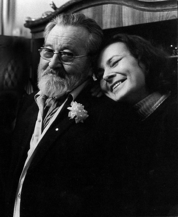 Jan Werich s dcerou Janou.
