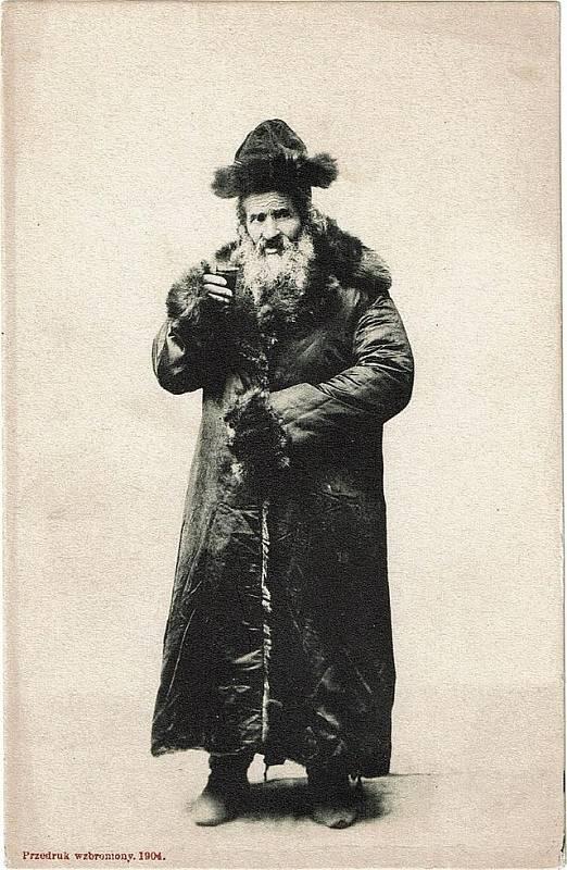 Žid ze Stanislavova na dobové pohlednici