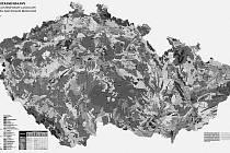 OBR VE SVÉ KATEGORII. Ukázka z Atlasu krajiny České republiky. Váží deset kilogramů a rozměry má 50 krát 60 centimetrů.