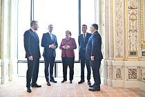 Setkání premiérů zemí V4 s německou kancléřkou Angelou Merkelovou v Bratislavě