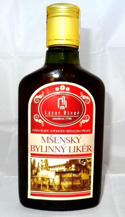 Mšenský bylinný likér - Likér Lázní Mšené je sladkohořké chuti, jehož základ a výjimečnost tvoří ovocný destilát a jedinečná skladba bylin.