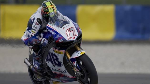 Karel Abraham v kvalifikaci na GP Francie.