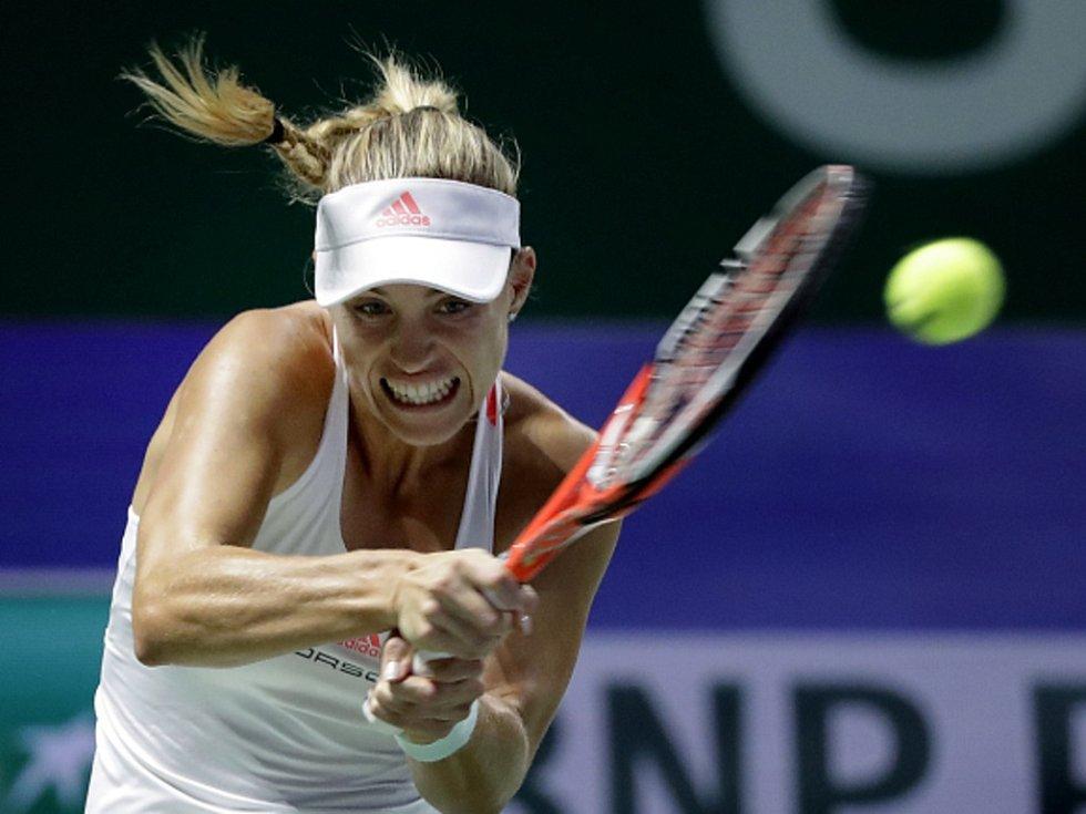 Angelique Kerberová ve finále Turnaje mistryň.