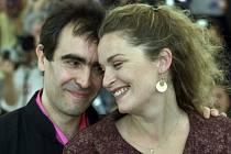 Francouzský režisér François Dupeyron s herečkou Isabelle Renaudovou.