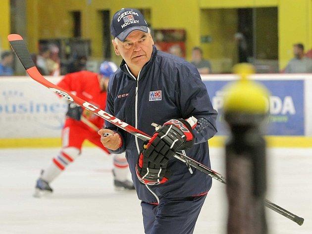 Trenér hokejové reprezentace Vladimír Vůjtek.