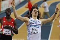 Jakub Holuša se raduje z postupu do finále halového mistrovství světa v běhu na 800 metrů v Dauhá.