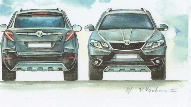 Návrh malíře Vlada Vovkaniče.