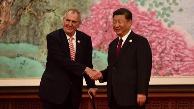Miloš Zeman a čínský prezident Si Ťin-pching.