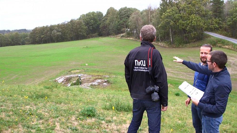 Archeologický průzkum naleziště v okolí mohyly Jell v Norsku