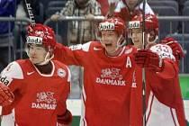 Ilustrační foto - hokejisté Dánska.