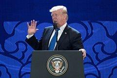 Donald Trump na summitu Rady pro ekonomickou spolupráci Asie a Tichomoří (APEC).