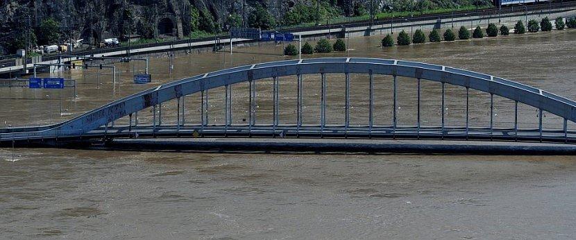 Povodeň v Ústí nad Labem v roce 2013.