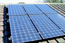 Solární fotovoltaické panely.
