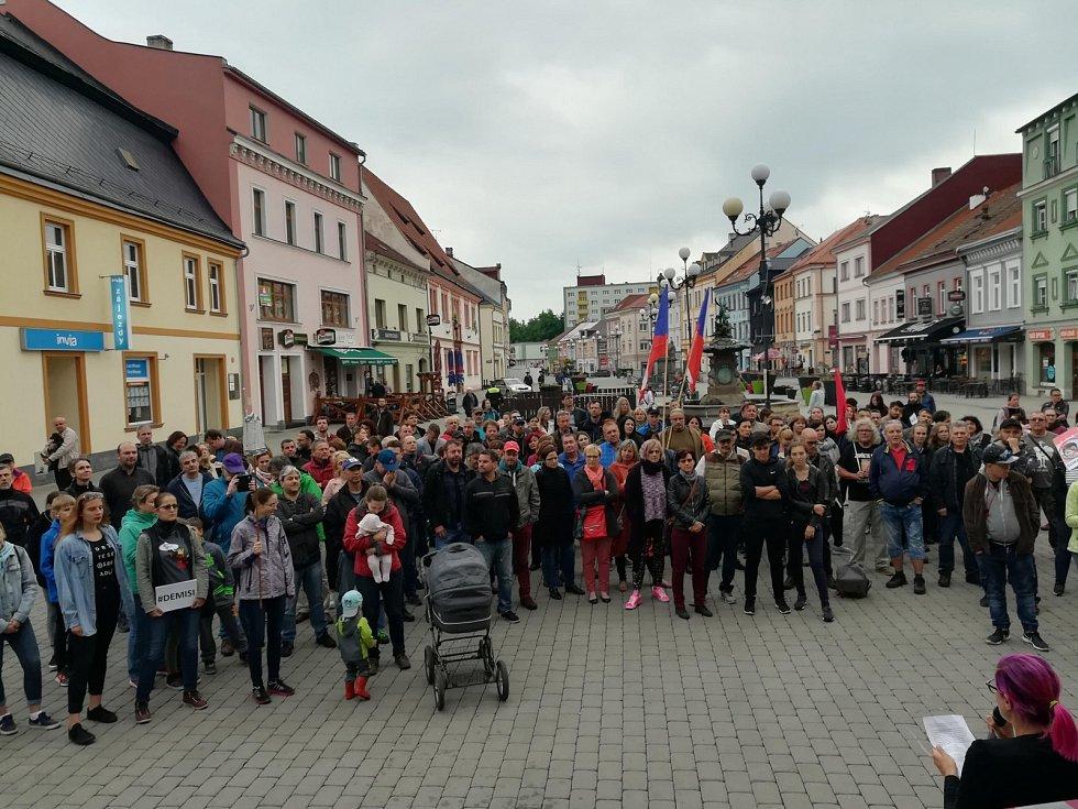 Protesty v Sokolově