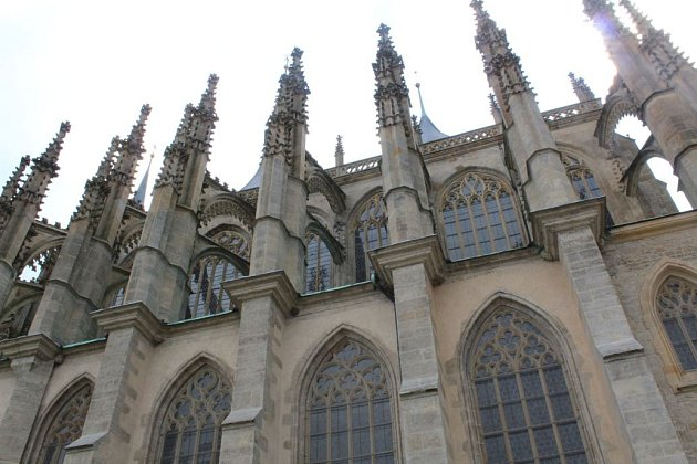 Výstup na ochoz chrámu Svaté Barbory