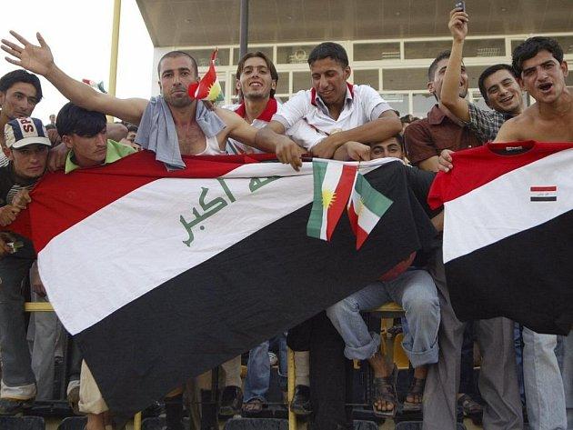 Fanoušci Iráku se po letech dočkali mezinárodního fotbalu.