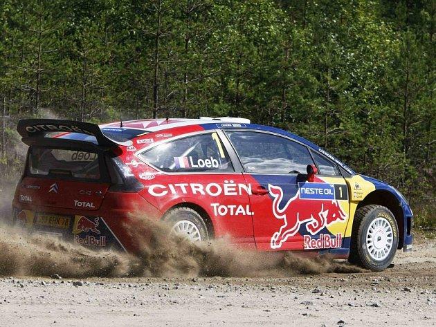 Citroën Sébastiena Loeba během Finské rallye.