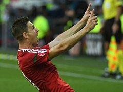 Zoltán Gera z Maďarska se raduje z gólu proti Portugalsku.
