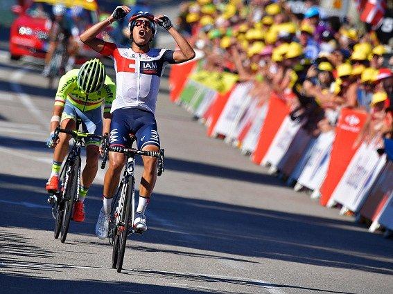 Jarlinson Pantano v cíli 15. etapy Tour de France.