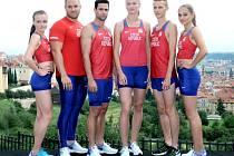 Na snímku jsou atleti (zleva) Nikola Bendová, Tomáš Staněk, Jan Kudlička, Michaela Hrubá, Filip Sasínek a Tereza Voká