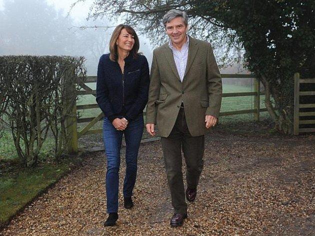 Michael a Carole Middletonovi, rodiče Kate Middletonové, která se provdala za britského prince Williama.