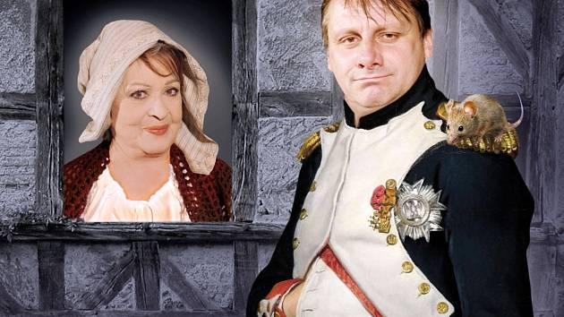 Jiřina Bohdalová a Radek Holub.