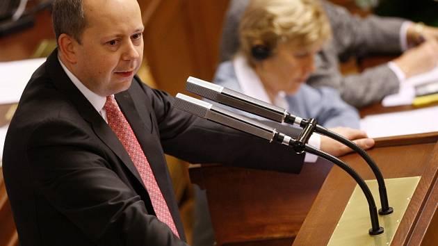 Zasedání poslanecké Sněmovny v Praze. Marek Šnajdr.