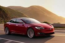 Tesla Model S P100D.