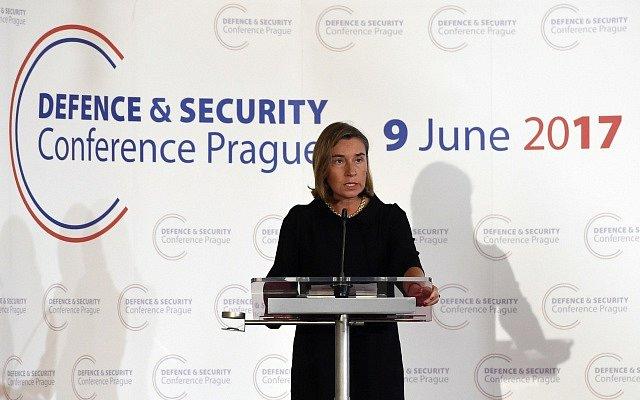 Vysoká představitelka Unie pro zahraniční věci a bezpečnostní politiku Federica Mogheriniová vystoupila 9. června v Praze na konferenci Evropské unie o budoucnosti evropské bezpečnosti a obrany.