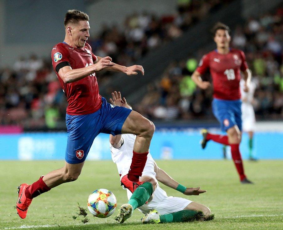 Zápas fotbalové kvalifikace ME 2020 ve fotbale mezi Českem a Bulharskem na Letné