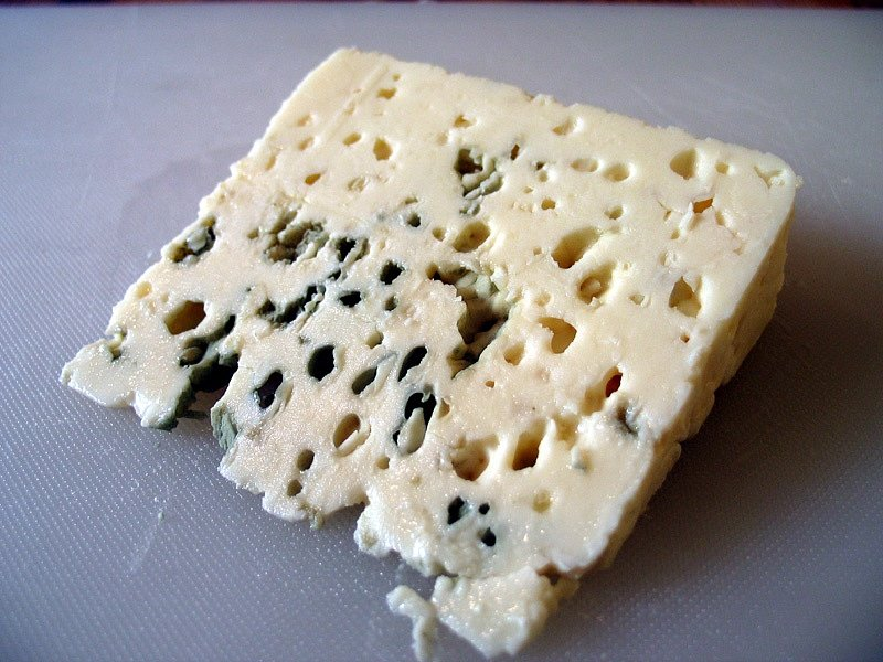 Textura sýru Roquefort