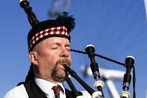 Skotský dudák.